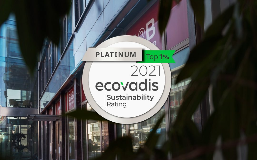 B2B IT-Partner får högsta möjliga hållbarhetsbetyg från EcoVadis