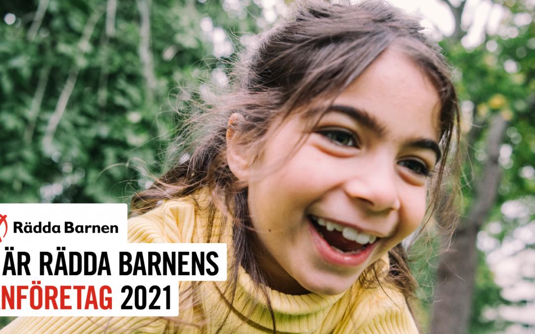 Vi är Rädda Barnens vänföretag 2021